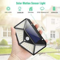 Water-Resistant-100-LED-Motion-Sensor-Wall-Lamp-Solar-Powered-Waterproof-Wall-Light-for-Outdoor-Night-Lighting