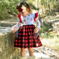 Autumn-Winter-Girls-Dress-Baby-Girls-New-Year-Clothes-Berry-Print-Comfortable-Casual-Home-Childrens-Clothes