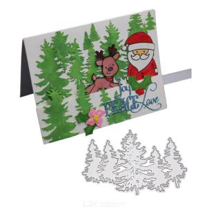 Small Christmas Tree Carbon Steel Cutting Dies Metal Stencil for Card Making