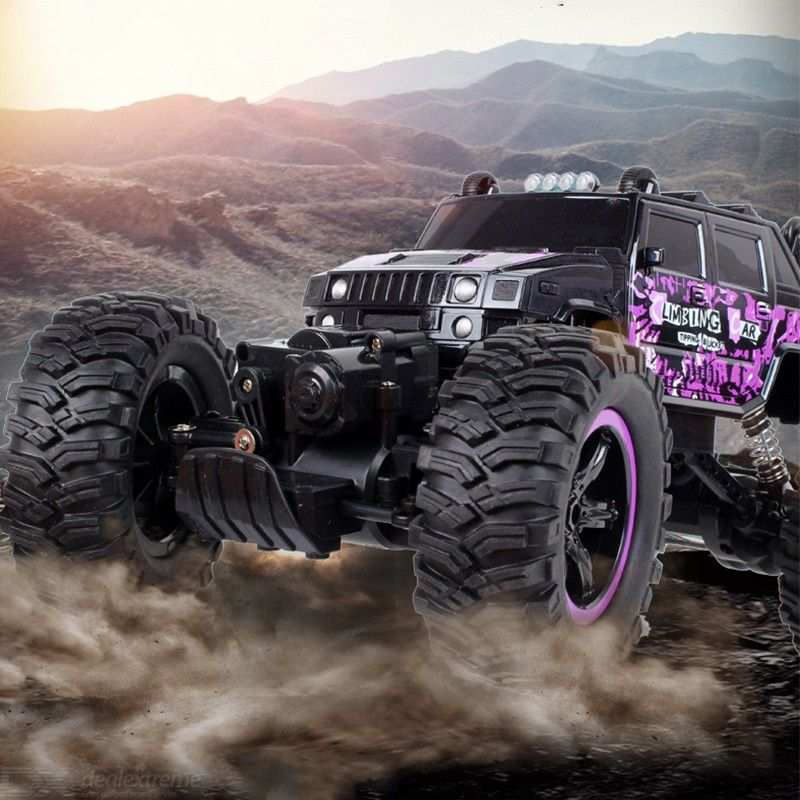 4WD Electric RC Car Rock Crawler Remote Control Toy Cars On The Radio Controlled 4x4 Drive Off-Road Toys For Boys Kids