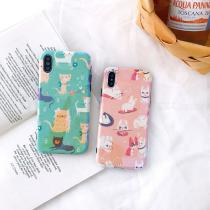 For IPhone 7 8 Plus 6s Blu-ray Cat Phone Case For IPhone XS X 6 6s 7 8 Plus Cute Bunny Cat Print Glossy Soft TPU Phone Case