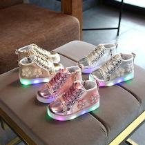 Childrens-Luminous-Shoes-Plum-Girls-Soft-Glossy-Shoes-LED-Luminous-Shoes-Non-slip-Wearable-Childrens-Shoes