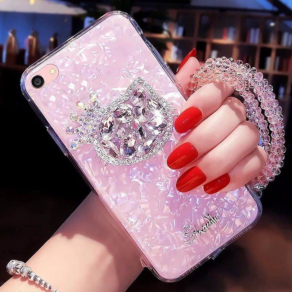 Glitter Phone Case For Iphone 6 Ultra-thin Clear Soft TPU Cover For Iphone 7 8plus 7plus Rhinestone Shockproof Phone Cas