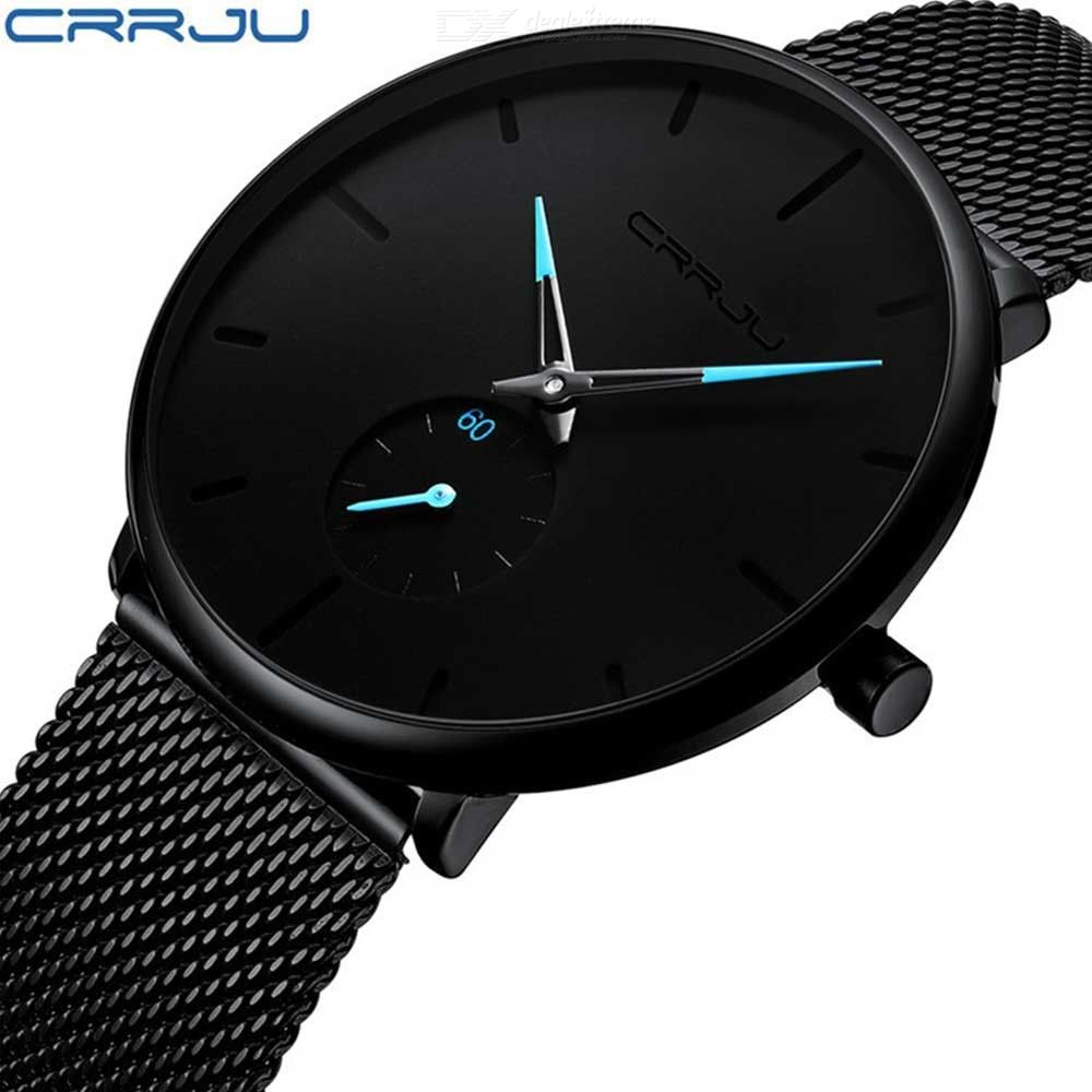 CRRJU 2150 Mens Quartz Watch Japan Stainless Steel Casual Business Wristwactch Ultra-thin Design