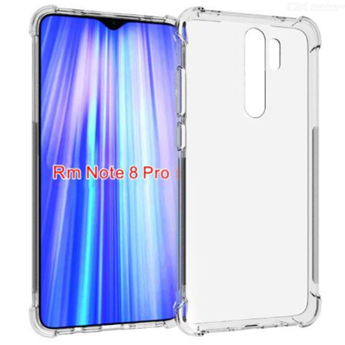 ASLING Four-corner Airbag Phone Case Protective Back Cover for Xiaomi Redmi Note 8 Pro
