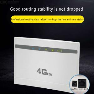 4G 300Mbps Mobile WiFi Router LTE Wireless CPE Router For Home Office - UKUSEU Plug