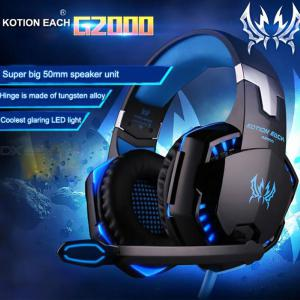 G2000 Over-Ear Gaming Headset Wired Game Headphones With LED Light