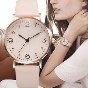 Fashion Female Quartz Watch Casual Simple All-match Wristwatch With Leather Band For Ladies