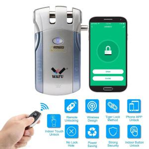 WAFU Keyless WIFI Remote Control Invisible Door Lock with Tuya App Household Warded Lock with Touch Design WF-010W