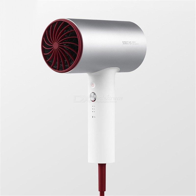 Xiaomi Soocas H3S Anion Hair Dryer Aluminum Alloy Body 1800W Dryers Hair Air Outlet Anti-Hot Innovative Diversion Design