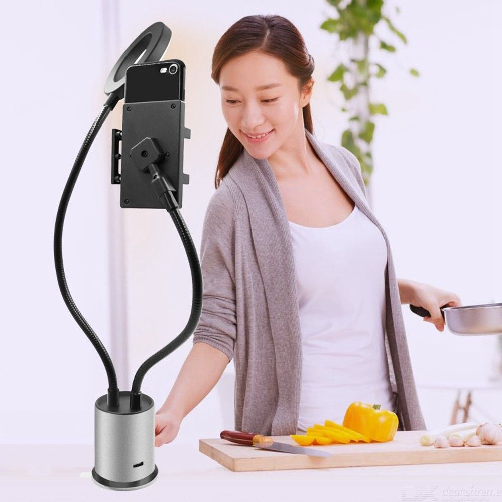 Multifunctional Beauty Makeup Fill Light with Phone Stand Bracket Holder for Live Broadcast