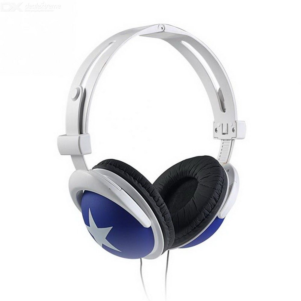 New Headphones Printed Star Ear-cap Bass 3.5mm Wired Headset Gaming Headphones For PC Mobile Phone Laptop