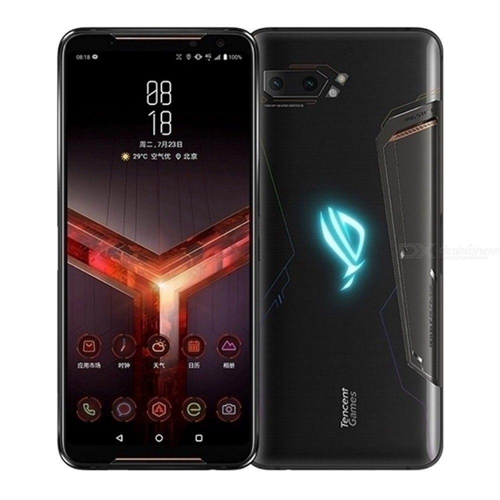 Global ASUS ROG Phone 2 ZS660KL Android Gaming Phone 8GB RAM 128GB / 12G RAM 512GB ROM 4K UHD Snapdragon 855 OctaCore Black