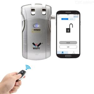 WAFU WF-010U Electric Intelligent Bluetooth Remote Door Lock, No Key Hole Home Safety Door Lock with Touch Function