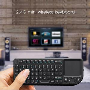 UKB-100-RF Mini 2.4G Wireless QWERTY Keyboard with Touchpad, Built-in Laser Pointer and Backlit