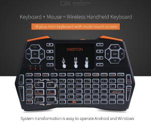 VIBOTON I8 Plus 2.4GHz Wireless Mini Keyboard Air Mouse with Backlight Touchpad, Remote Controller for TV Box Computer Tablet