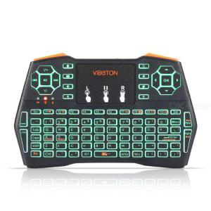 VIBOTON I8 PLUS 2.4GHz Wireless Mini Keyboard Air Mouse, Backlight Touchpad Remote Controller for TV Box Computer Tablet Laptop