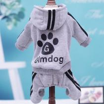 Pet Dogs Costume Hoodie 4 Legs Warm Puppy Cotton Sweatshirt Jacket For Small Dogs Teddy Outfits