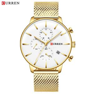 Curren 8339 Male Waterproof Quartz Watch Fashion Mens Multifunctional Wristwatch For Business Occasions
