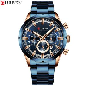 Curren 8355 Male Water-resistant Quartz Watch Fashion Casual Chronograph Wristwatch For Business