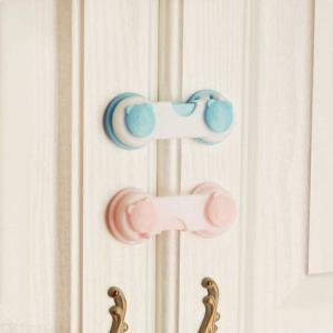 5Pcs Multifunctional Baby Kids Safety Lock With Bear Pattern For Drawer Cabinet Wardrobe