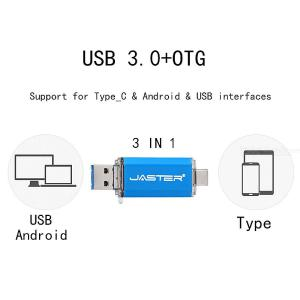 3-in-1 Color USB 3.0 OTG Flash Drive, 8GB / 16GB / 32GB / 64GB / 128GB Pendrive U-Disk For PC / Android Phone
