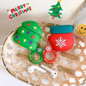 Christmas Silicone Case For Apple AirPods 1 / 2 Protective Case 3 Style Shockproof Soft Cover