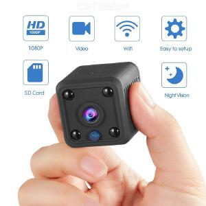 Mini WiFi Spy Hidden Camera, 1080P/720P/480P Wireless HD Nanny IP Camera with Motion Detection for Home Indoor Outdoor