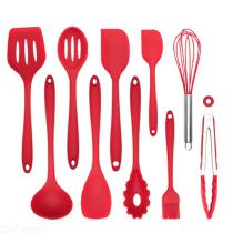 10pcs Heat-Resistant Silicone Cooking Utensils Set Practical Home Kitchen Accessories For Nonstick Cookware