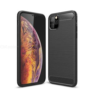Naxtop Carbon Fiber Brushed Soft Back Cover Protective Phone Case For Apple iPhone 11 Pro Max / iPhone 11 Pro / iPhone 11