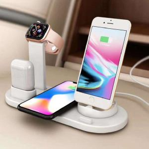 OJD-Q12 4-in-1 Wireless Charging Dock Station Stand Fast Charger For Apple Watch AirPods IPhone And Android Phone
