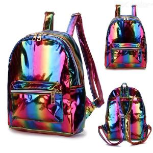 2019 Women Rainbow Backpack Zipper Backpacks Girls Colorful Travel School Bag