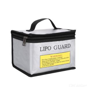 Lipo Lithium Battery Zipper Fire-Proof Explosion-Proof Safe Bag With Handle Design - Silver