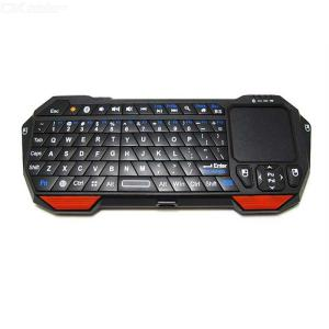 Portable Lightweight Mini Wireless Bluetooth Keyboard Controller Keypad Air Mouse With Built-In Touchpad - Black