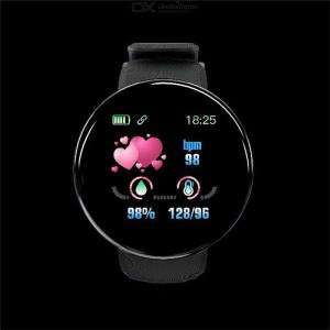 D18S Smart Watch 1.3 Inch Color Screen Waterproof Heart Rate Blood Pressure Health Fitness Tracker