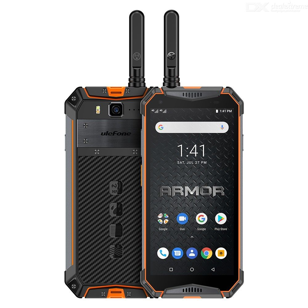 Ulefone Armor 3WT 5.7 Inch Android 9.0 Helio P70 Rugged 10300mAh Walkie-Talkie Global Version 4G Phone with 6GB RAM 64GB ROM