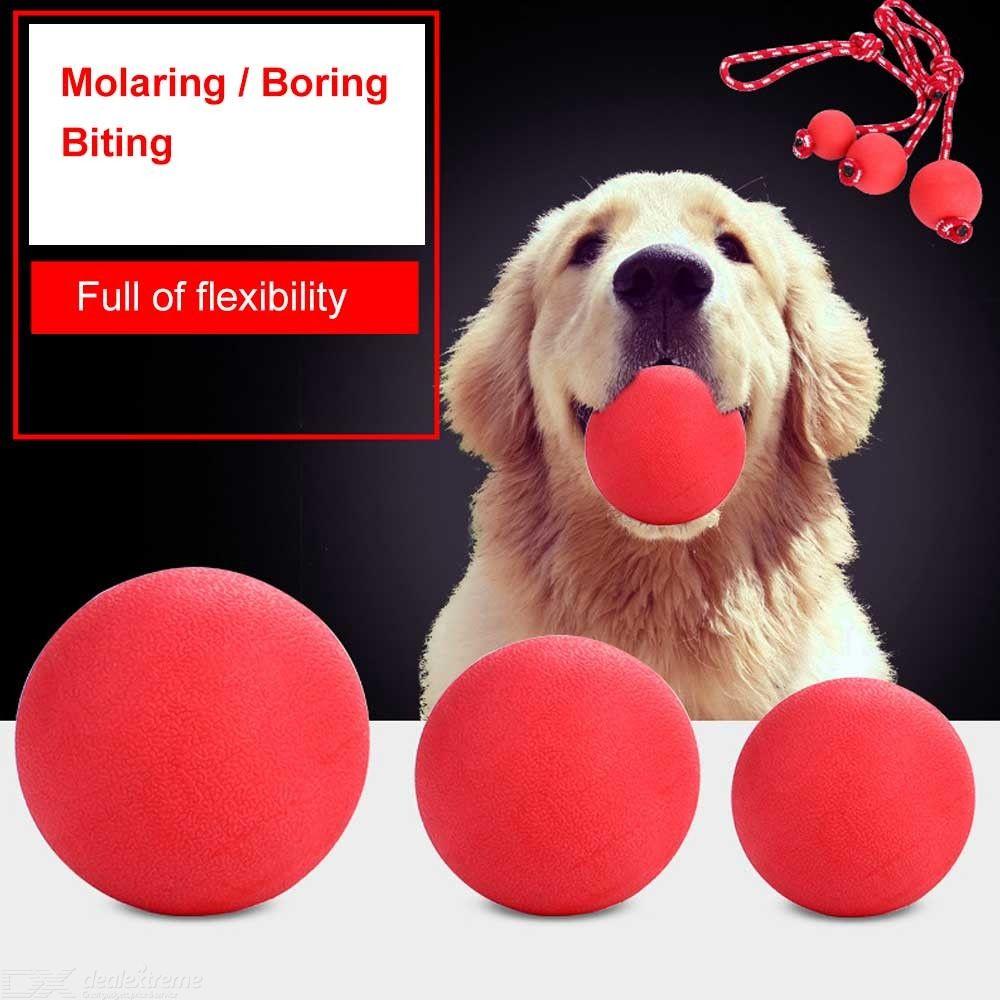 Rubber Dog Toy Ball Solid Bouncing Bite Resistant Pet Ball