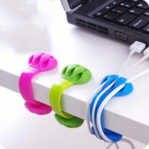 Silicone Cable Winder Holder Clip Hook, Desktop Cable Organizer Cord Wire Management For PC Office Home
