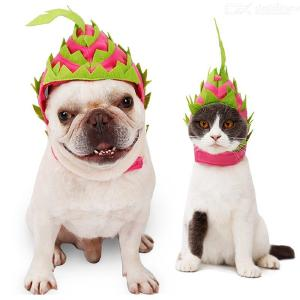 Pet Dogs Pitaya Hats Christmas Party Costume Cosplay Headwear For Cats Puppy Hats