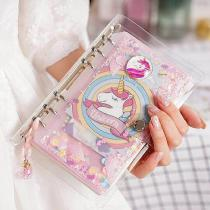 Pink-Unicorn-Travel-Journal-Kit-Cartoon-Refillable-Notebook-Loose-leaf-Traveler-Diary-Note-Pad-For-Girls-Kids-Gift
