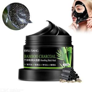 Peel Off Face Masks Activated Bamboo Charcoal Blackhead Removal Mask 120g For Deep Facial Cleansing Pore Shrinking