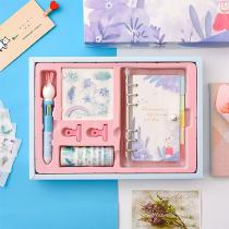 Cute-Refillable-Journal-Gel-Pen-Tape-Stationery-Sticker-Set-Loose-leaf-Notebook-Diary-Note-Pad-Gift-Box-Kit-Gift-For-Girls-Kids
