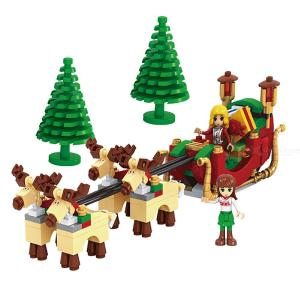 Building Blocks Christmas Theme Educational Toys With 228 Blocks For Boys Girls 5 Years And Over