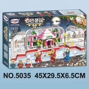 Building Blocks Christmas Theme Educational Toys For Boys Girls 8 Years And Over