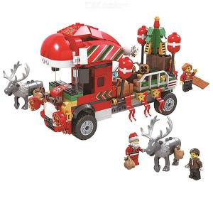 Building Blocks Christmas Theme Educational Toys With 375 Blocks For Boys Girls 5 Years And Over