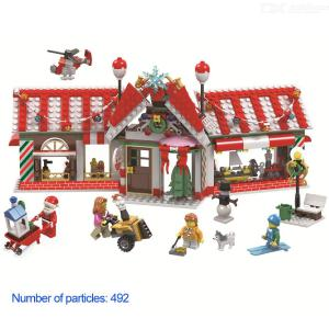 Building Blocks Christmas Theme Educational Toys With 492 Blocks For Boys Girls 5 Years And Over