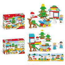 Building-Blocks-Christmas-Theme-Educational-Toys-With-46-Blocks-For-Boys-Girls-5-Years-And-Over