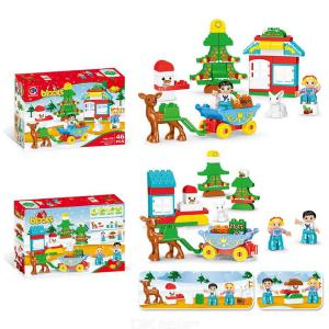Building Blocks Christmas Theme Educational Toys With 46 Blocks For Boys Girls 5 Years And Over