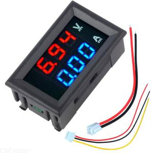 Mini Digital Voltmeter Ammeter DC100V 10A Panel Amp Volt Voltage Current Meter Tester
