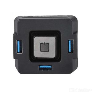 Portable Desktop PC Switch with 3 USB 3.0 Ports Audio Sound Card for Computer